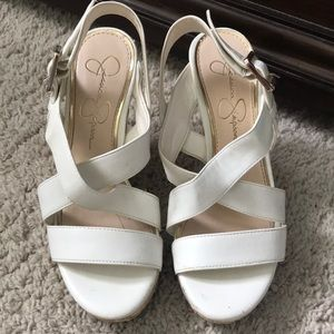 Off white Jessica Simpson wedged - Size 6